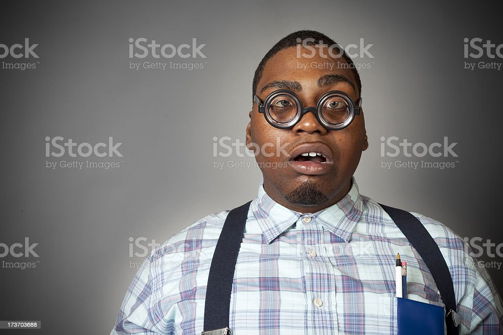The Geek! royalty-free stock photo