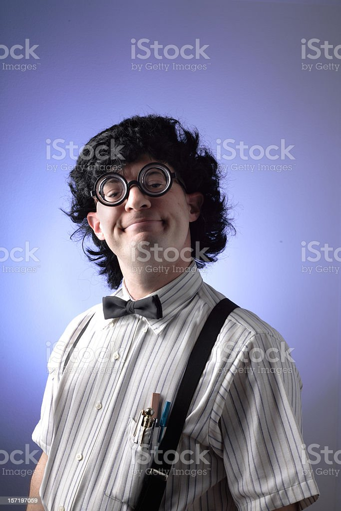 The Geek: Smug stock photo
