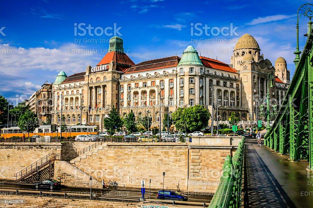 The Gellert Astoria Hotel in Budapest, Hungary stock photo