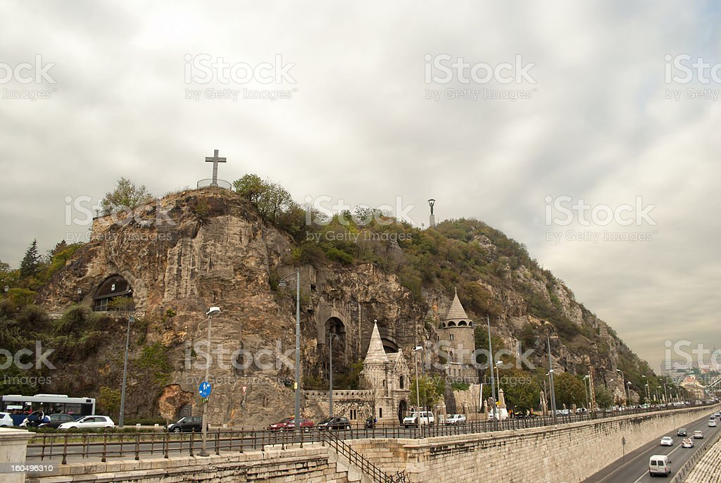 The Gellert Hill in Budapest (Hungary) stock photo
