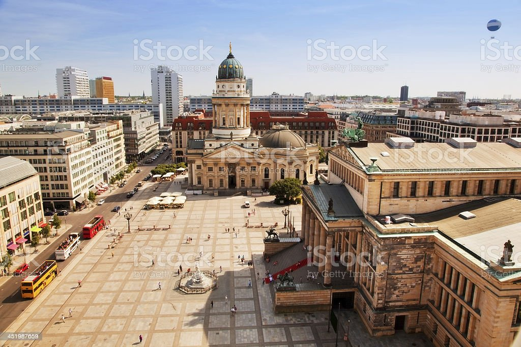 The Gendarmenmarkt and German Cathedral in Berlin stock photo