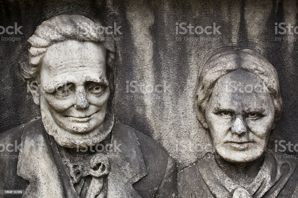 The Gentle Man and His Crazy Wife royalty-free stock photo