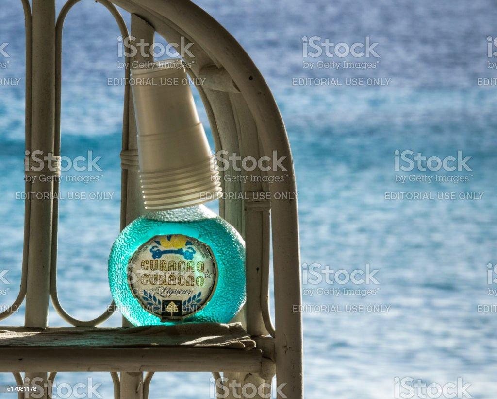 The Genuine Senior Curacao liqueur royalty-free stock photo