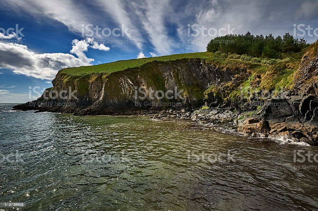 The geological structure of the cliffs, Ireland stock photo