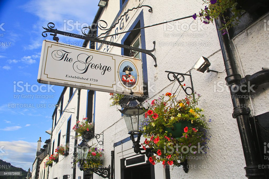 The George Hotel, Iverary, Scotland stock photo