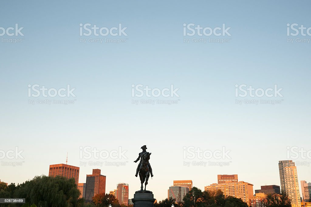 The George Washington Monument  Boston Public Garden, stock photo
