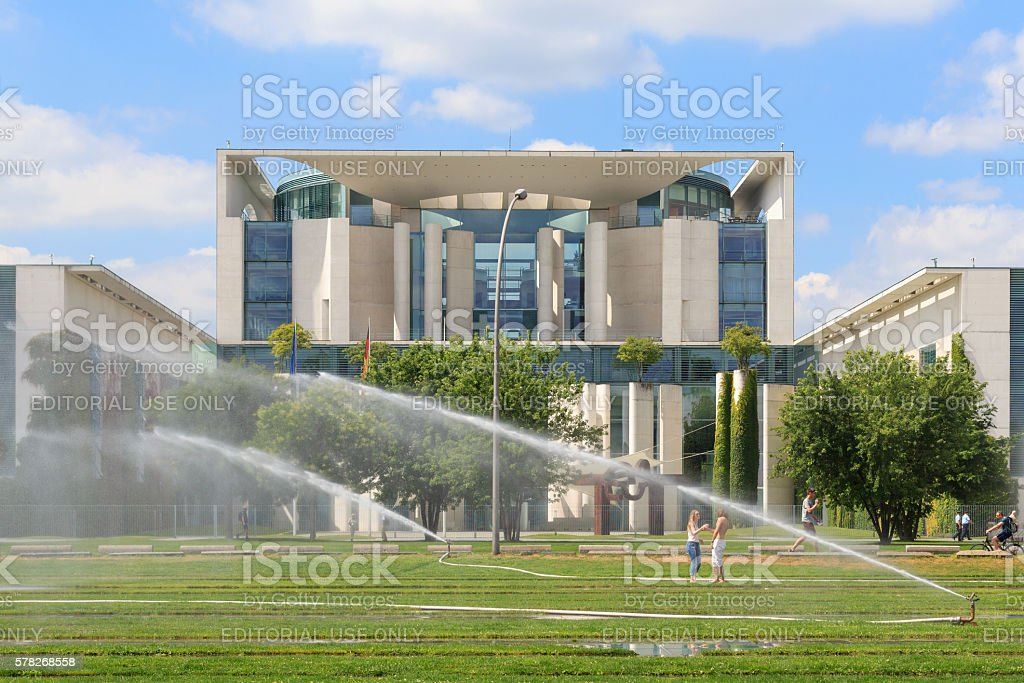 The German chancellery ( Bundeskanzleramt) in Berlin stock photo