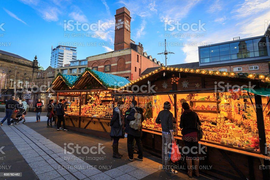 The German Christmas Market in Leeds stock photo