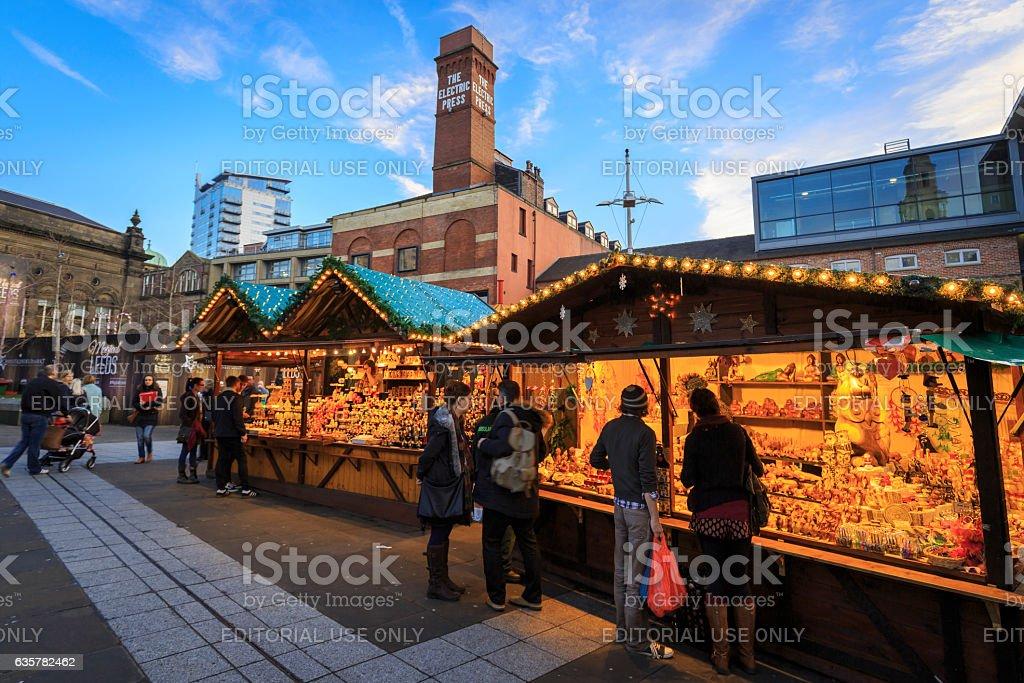 The German Christmas Market in Leeds stock photo