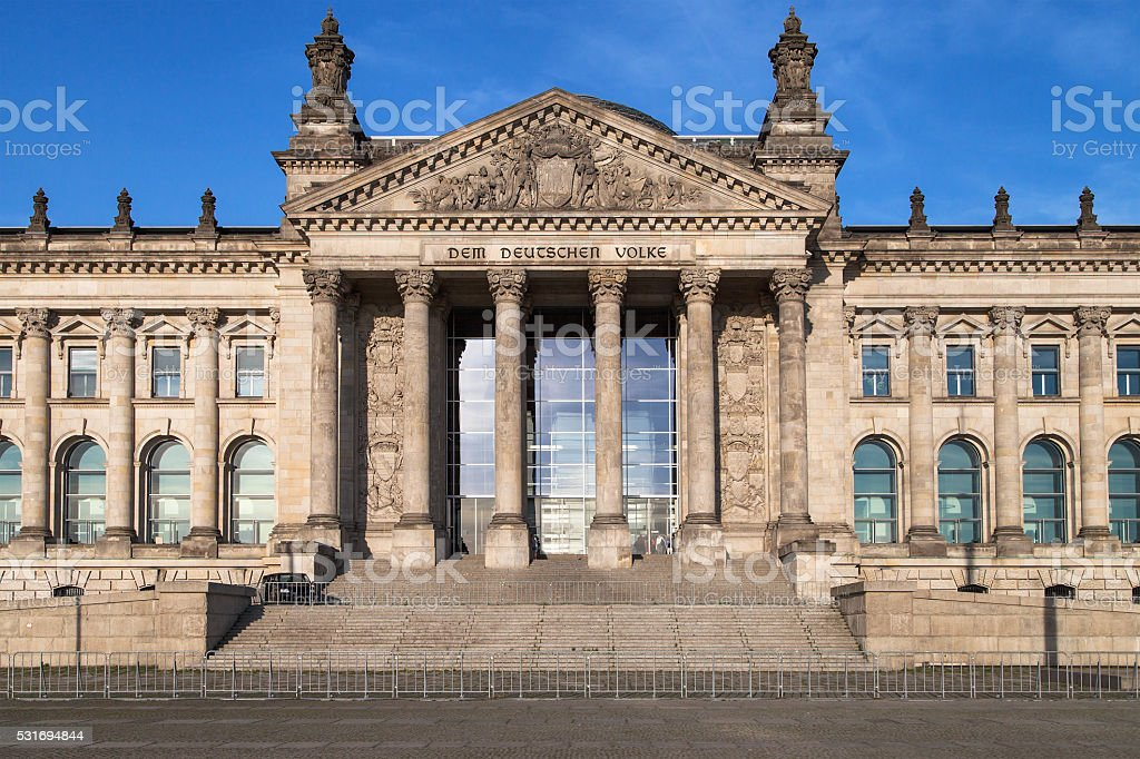The German Parliament stock photo