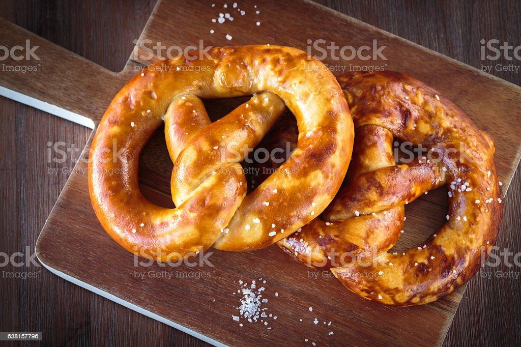 The german pretzel stock photo