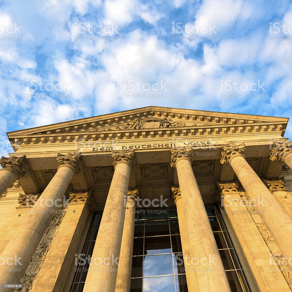 The German Reichstag in Berlin stock photo