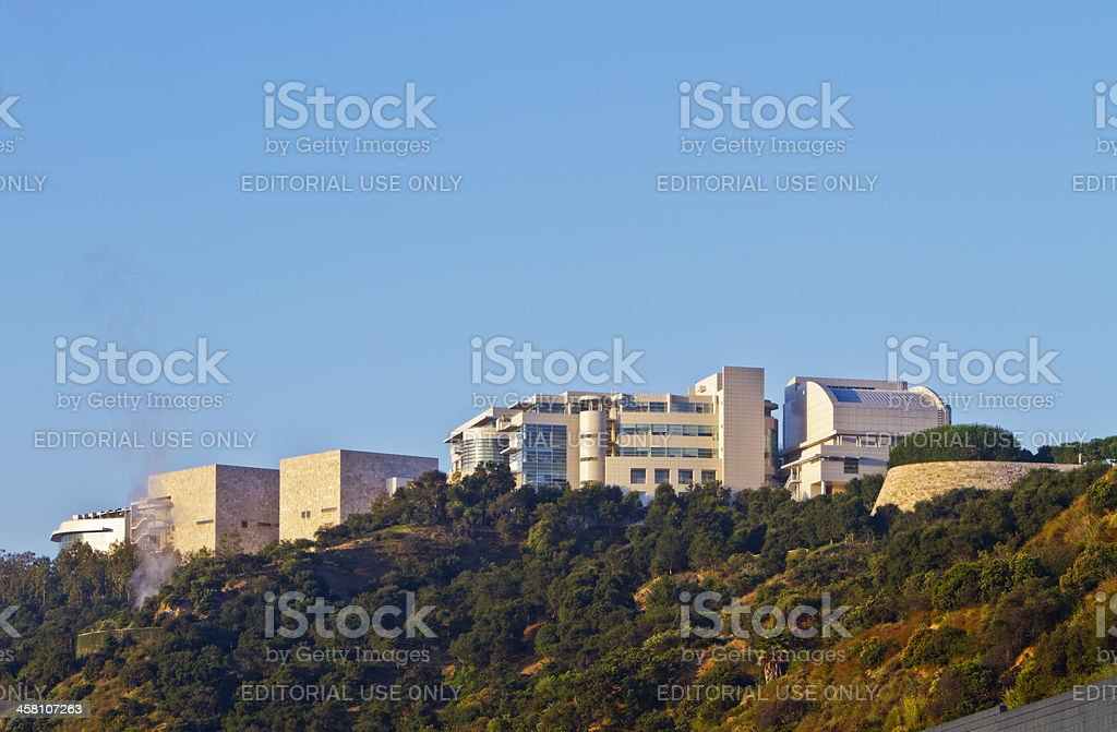 The Getty Museum at Sunrise royalty-free stock photo