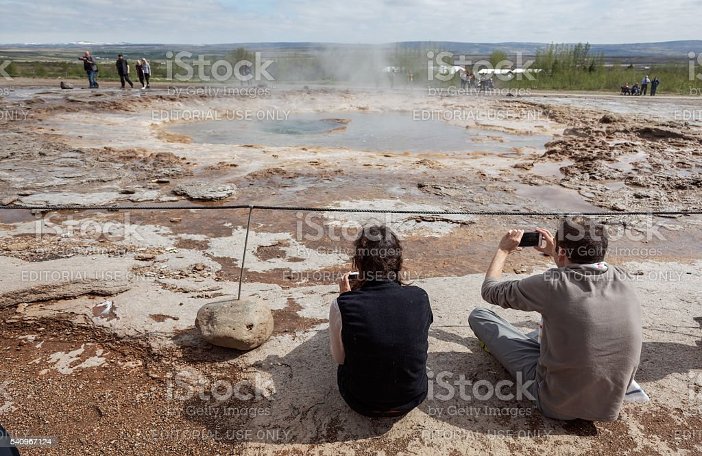 The Geyser Strokkur stock photo