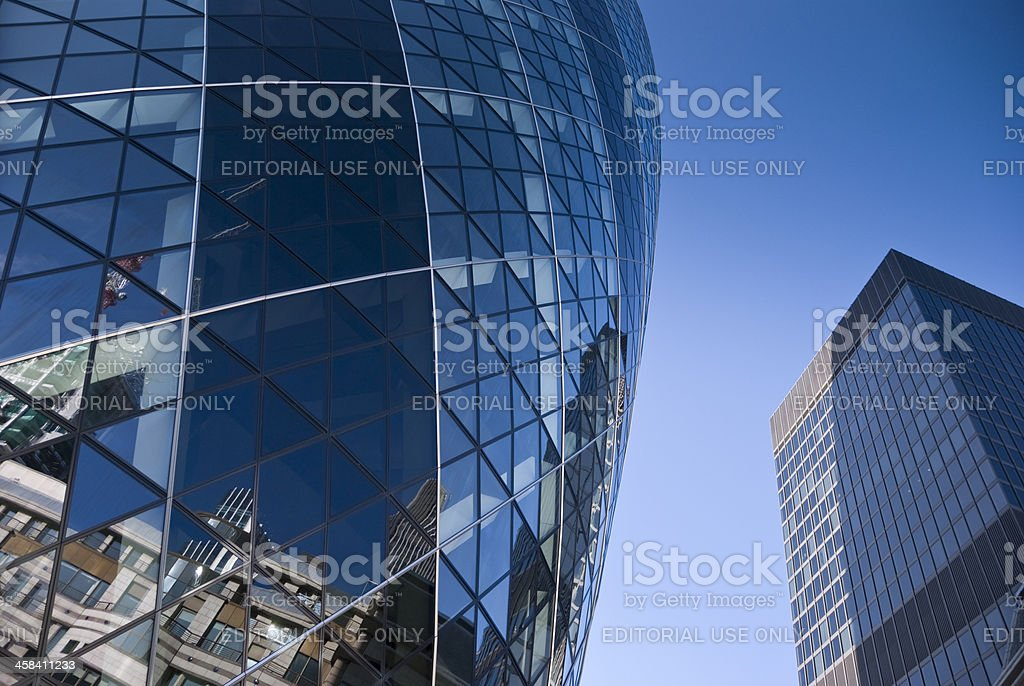 The Gherkin a famous skyscraper in central London royalty-free stock photo