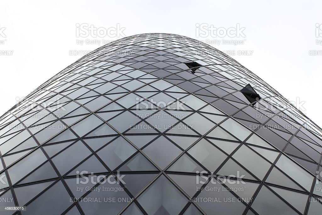 The Gherkin Building In London royalty-free stock photo