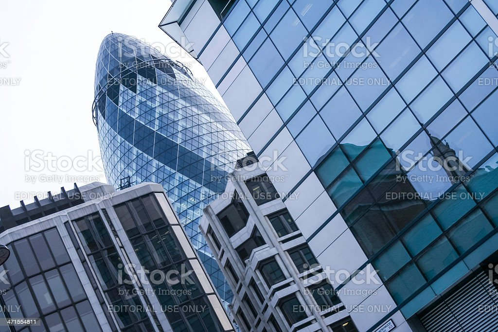 The gherkin st marys axe city of london royalty-free stock photo