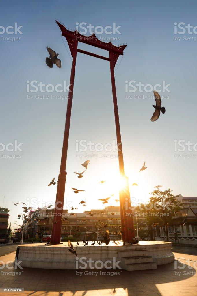 The Giant Swing in bangkok stock photo