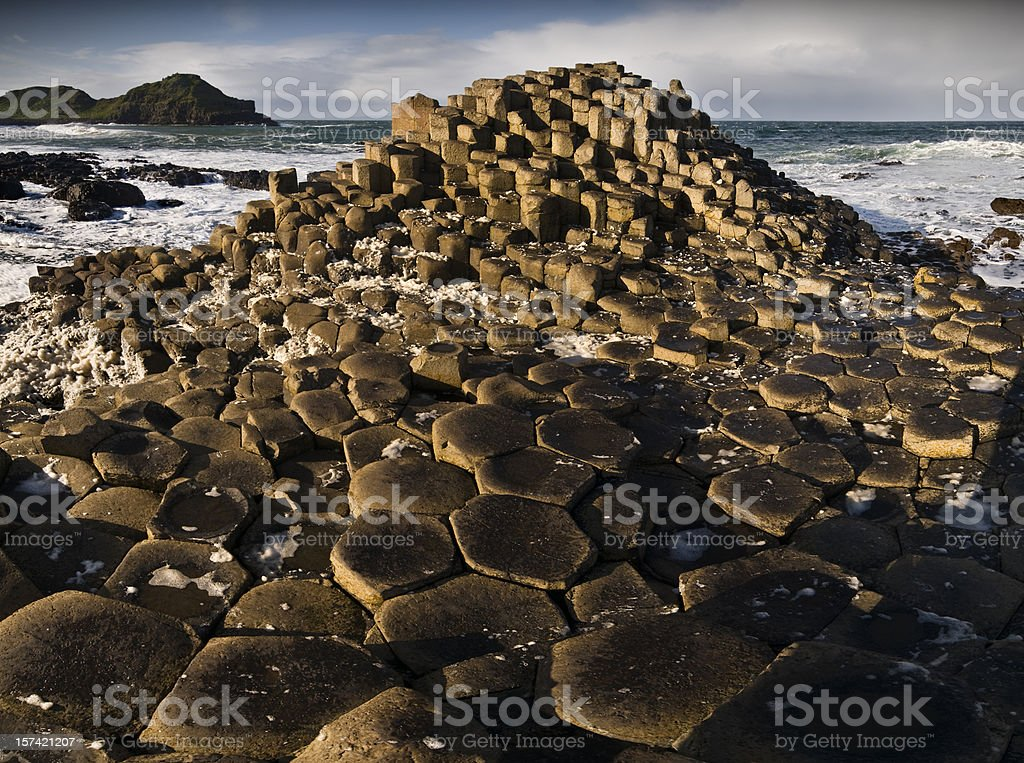 The Giants Causeway royalty-free stock photo