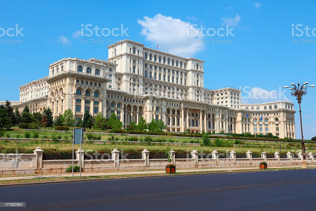 The gigantic Bucharest building stock photo