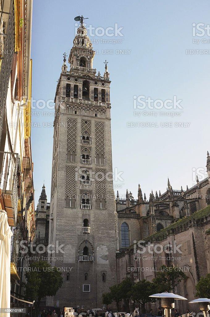The Giralda in Sevilla Spain royalty-free stock photo