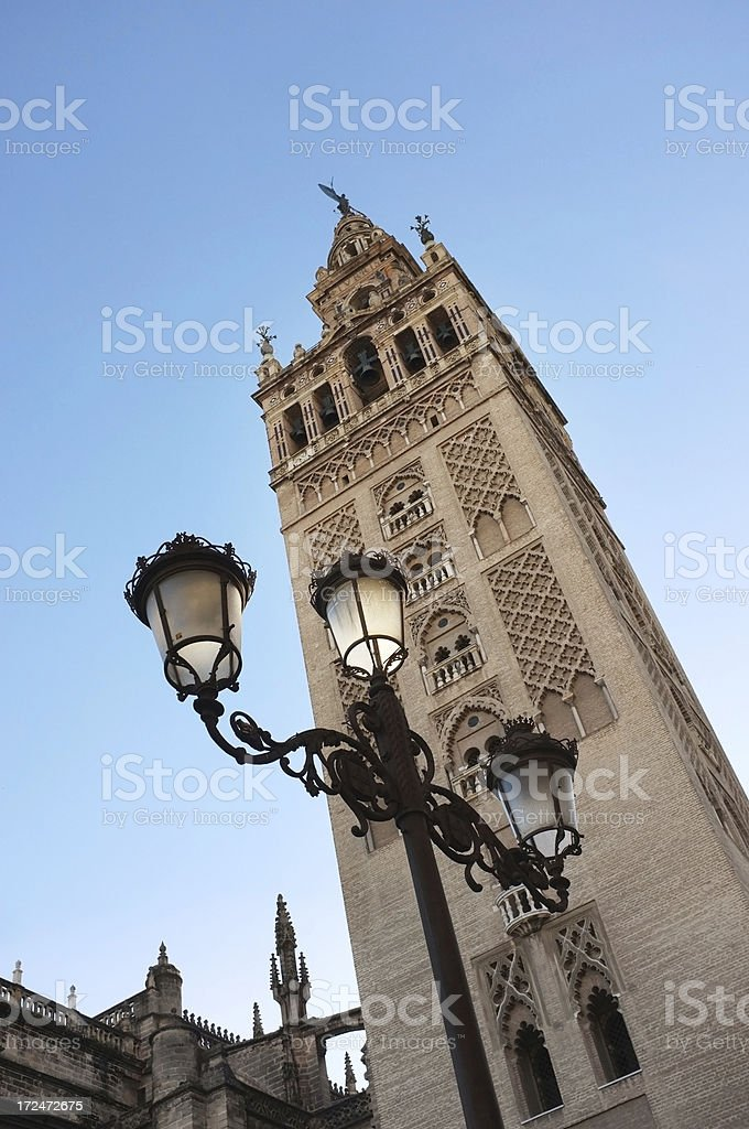 The Giralda tower in Sevilla Spain royalty-free stock photo
