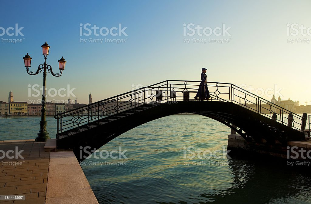 the girl early in  Venice royalty-free stock photo