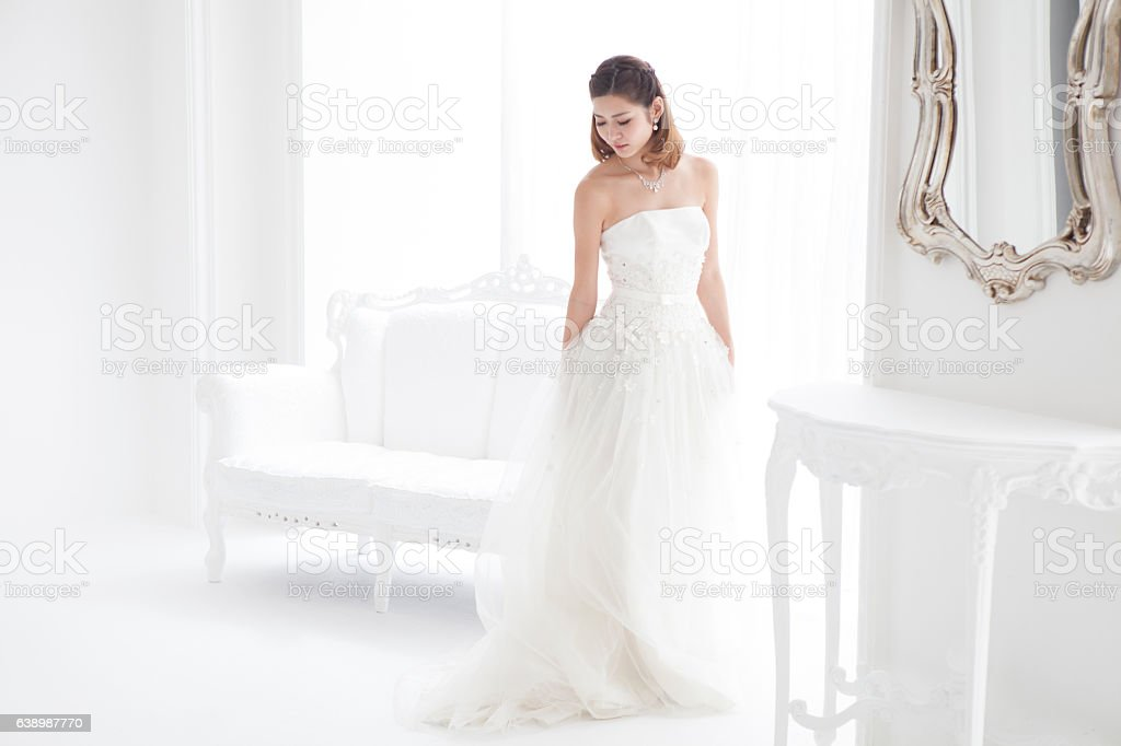 The girl grabbed happiness. stock photo