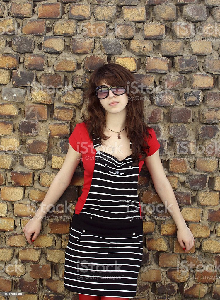 The girl in glasses. royalty-free stock photo