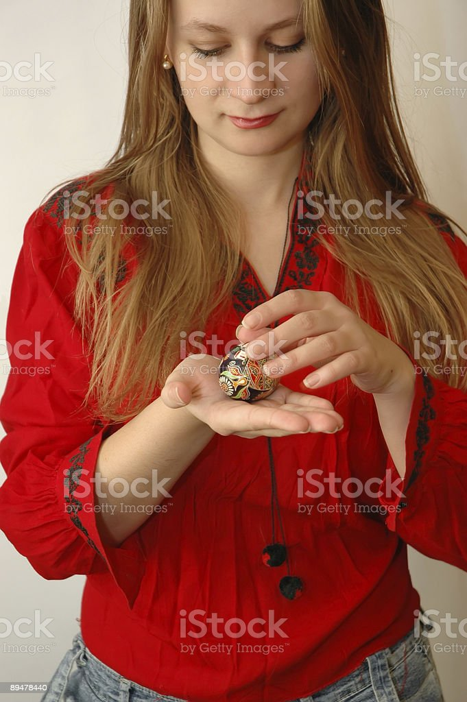 The girl in national clothes royalty-free stock photo