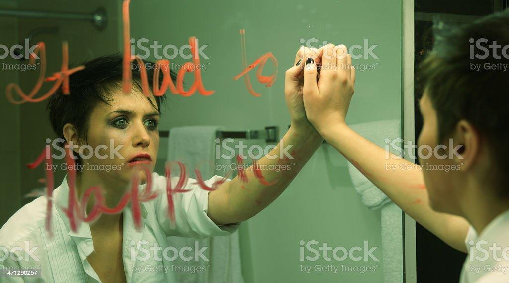 The Girl in Room Twelve stock photo