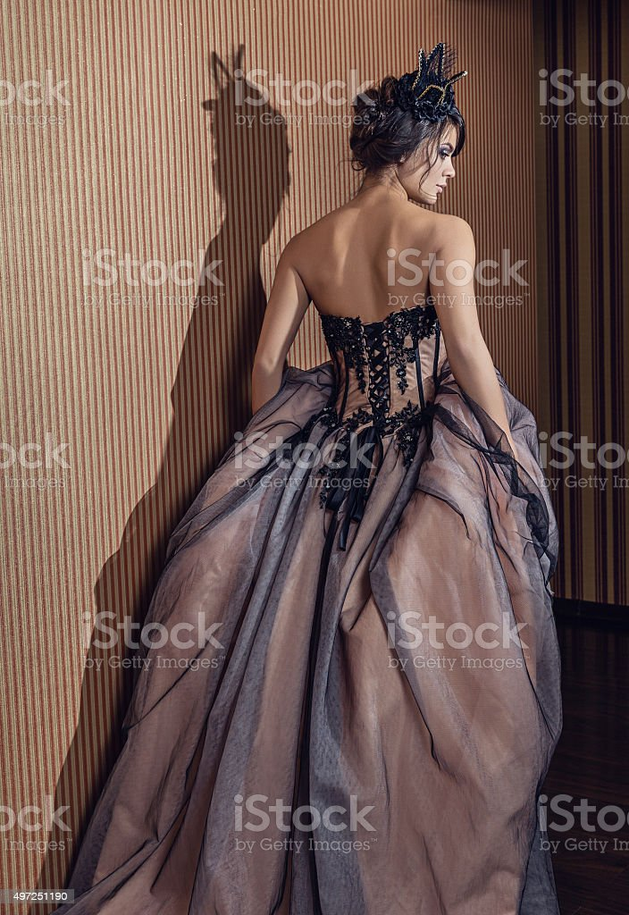 The girl in the image of a princess. stock photo