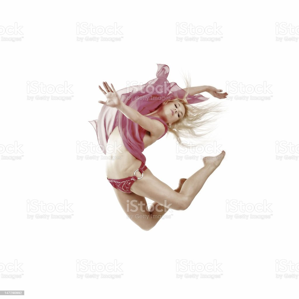 the girl is in air royalty-free stock photo