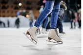 The girl on the figured skates