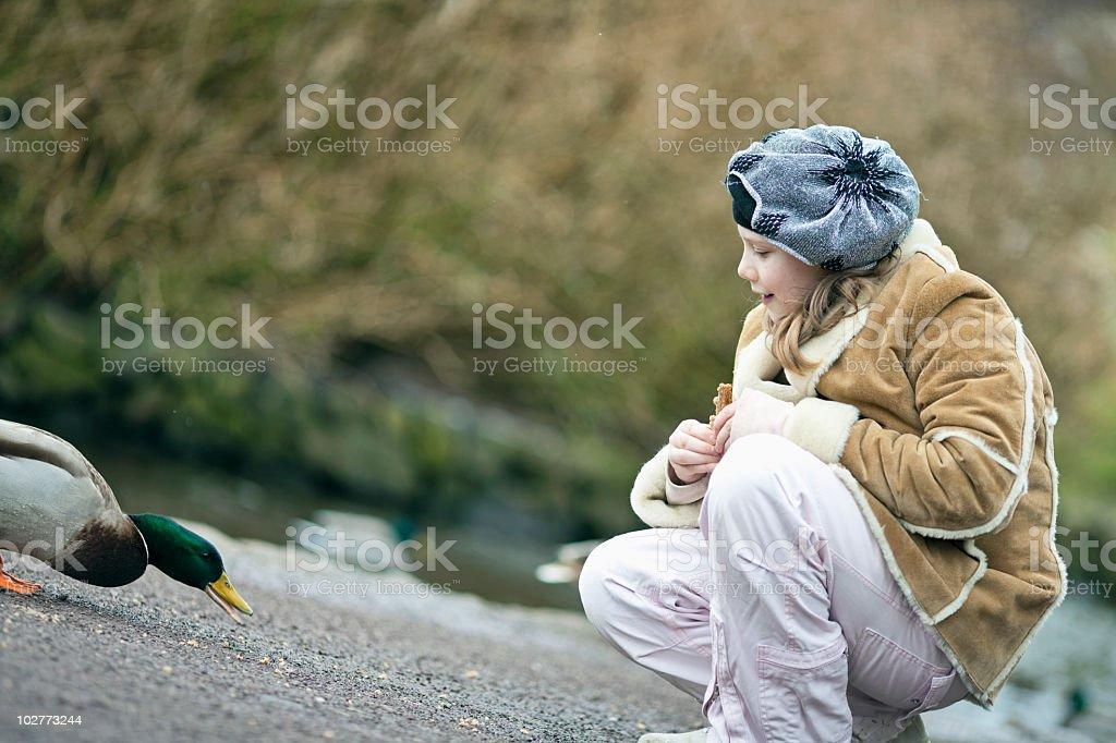 The girl outdoor stock photo