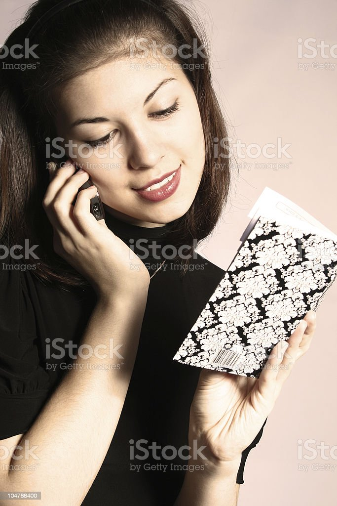 The girl with a notebook. royalty-free stock photo