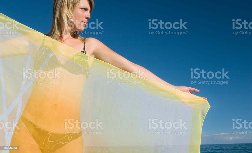 The girl with a scarf royalty-free stock photo