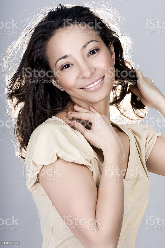 the girl with a smile royalty-free stock photo