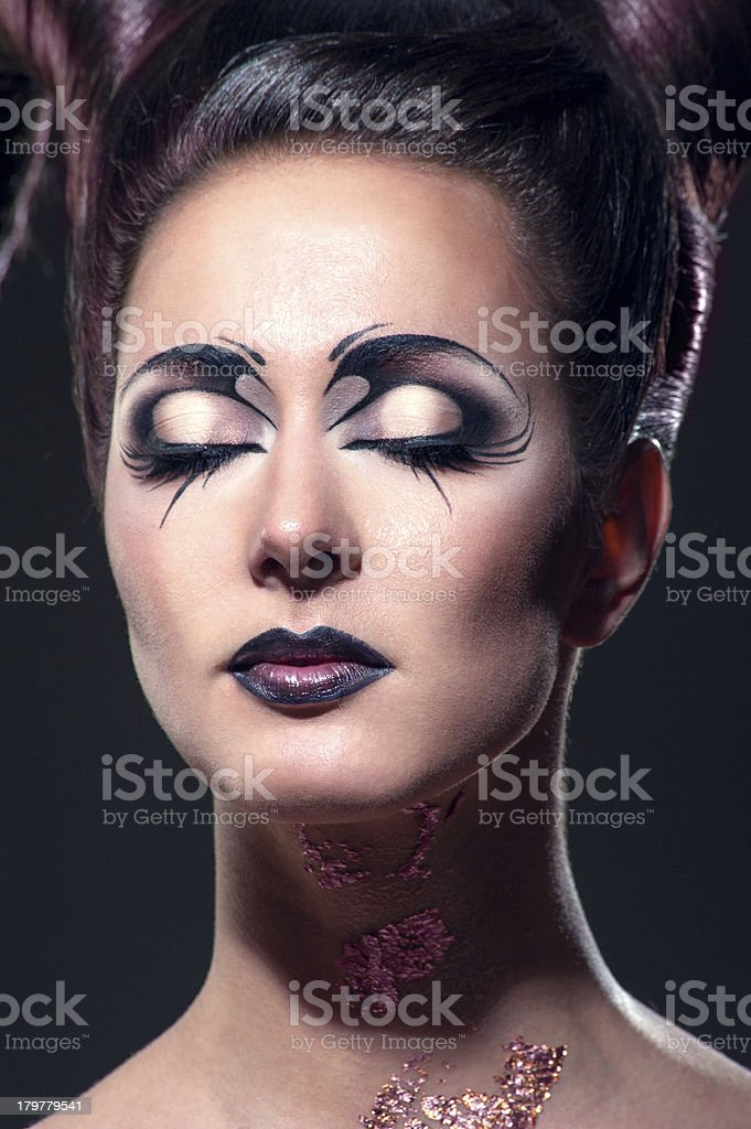 The girl with fancy makeup royalty-free stock photo