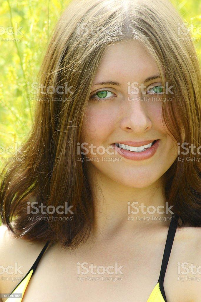 Dziewczyna z Zielone oczy zbiór zdjęć royalty-free