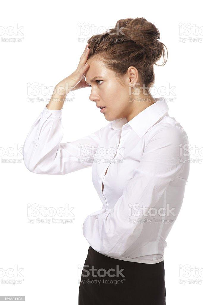 The girl's headache royalty-free stock photo
