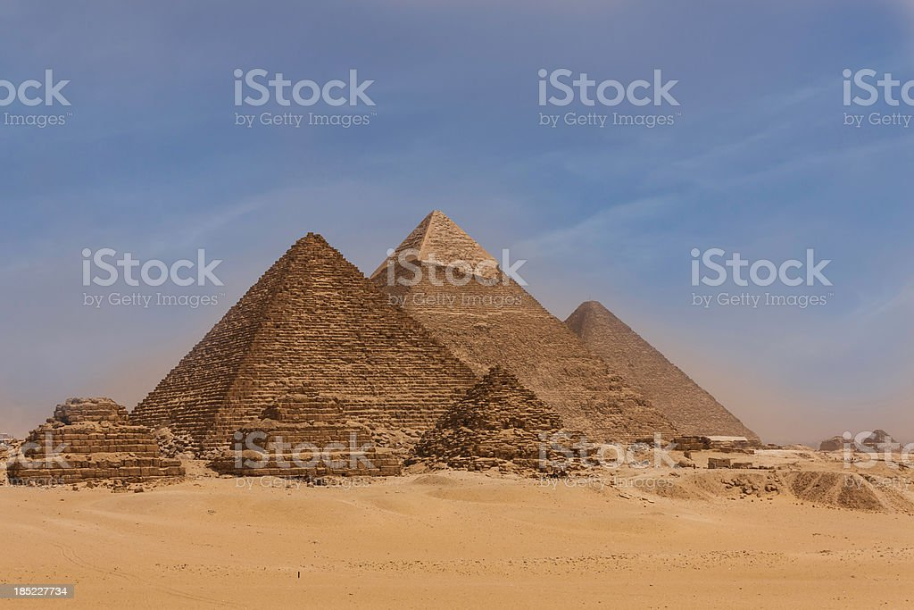 The Giza Pyramids royalty-free stock photo