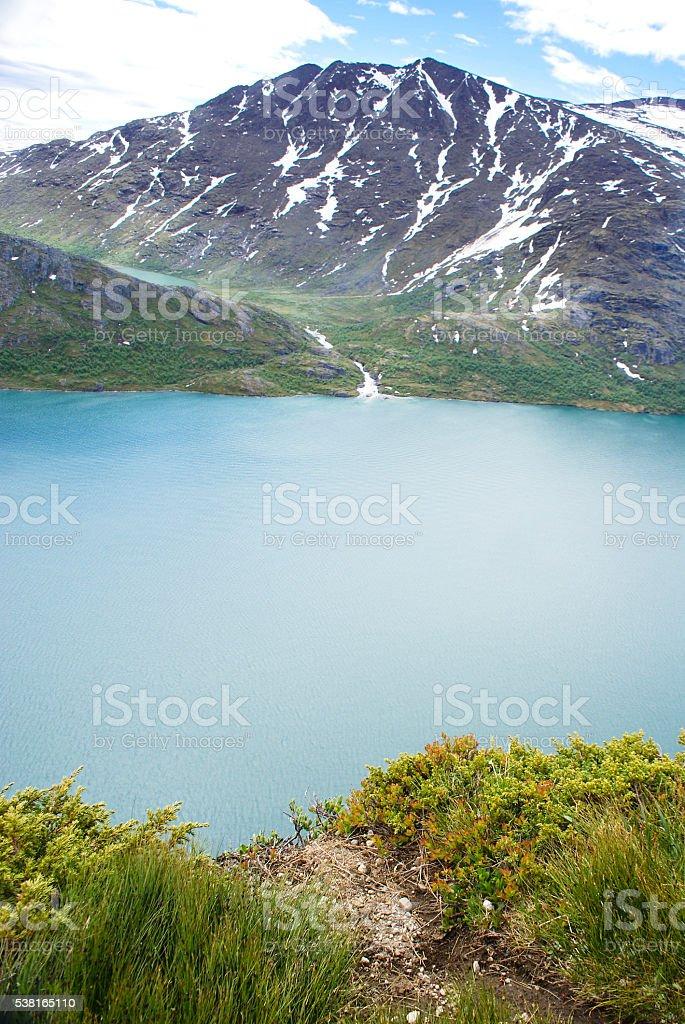 The Gjende lake stock photo