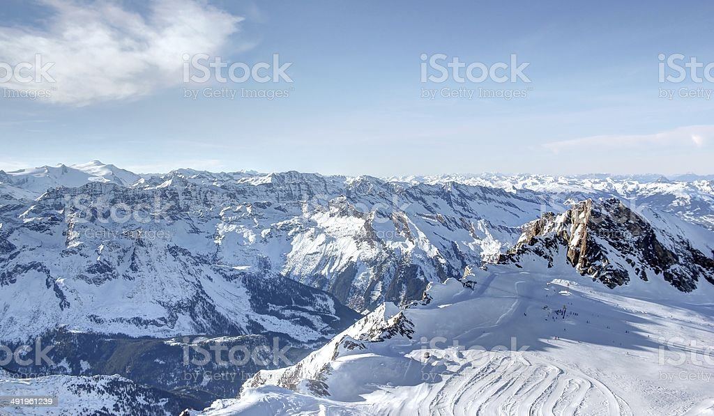 The Glacier – Freedom at 3,000 Metres, Skiing Resort. stock photo