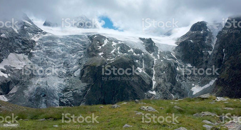 The glacier of Arolla - Switzerland stock photo