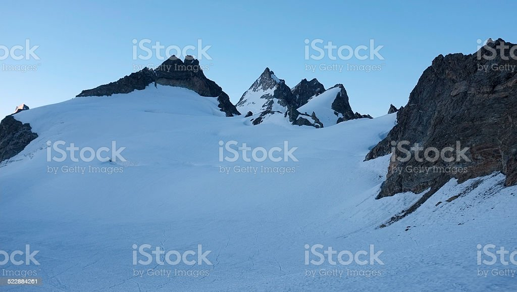 The glacier of 'Mont min?' stock photo