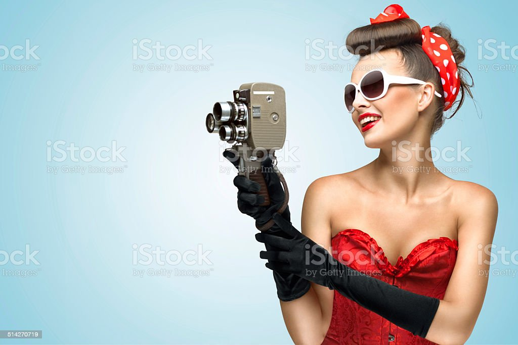 The glamorous cinema is coming hot. stock photo