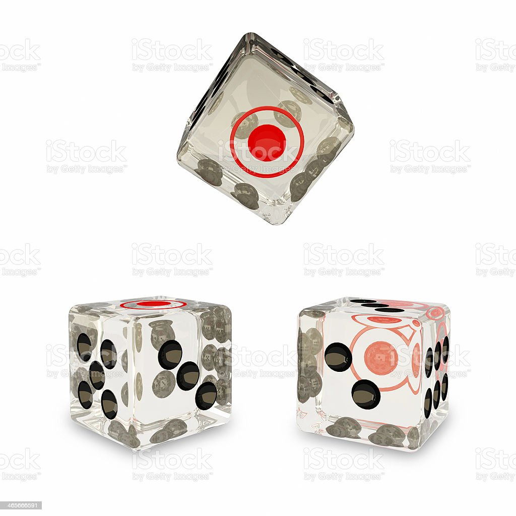 the glass dice royalty-free stock photo