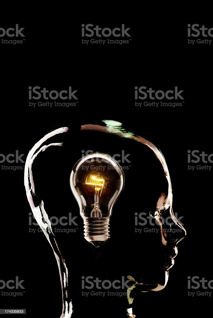 The Glass Head Series royalty-free stock photo