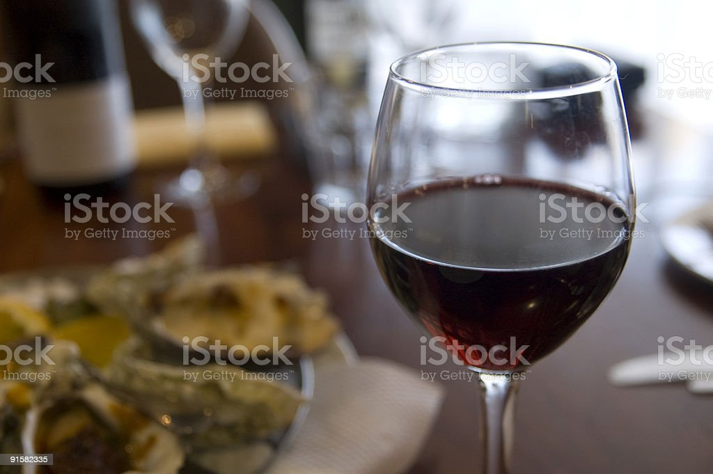 The Glass of Red Wine royalty-free stock photo